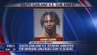 South Garland HS student arrested for gun on campus