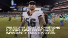Eagles' Chris Long donates every single paycheck this season to charity