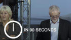 Jeremy Corbyn's pre-conference rally in 90 seconds