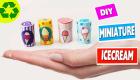 DIY Miniature Ice Cream - DIY Minis