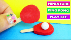 DIY Miniature Ping Pong Set - DIY Minis